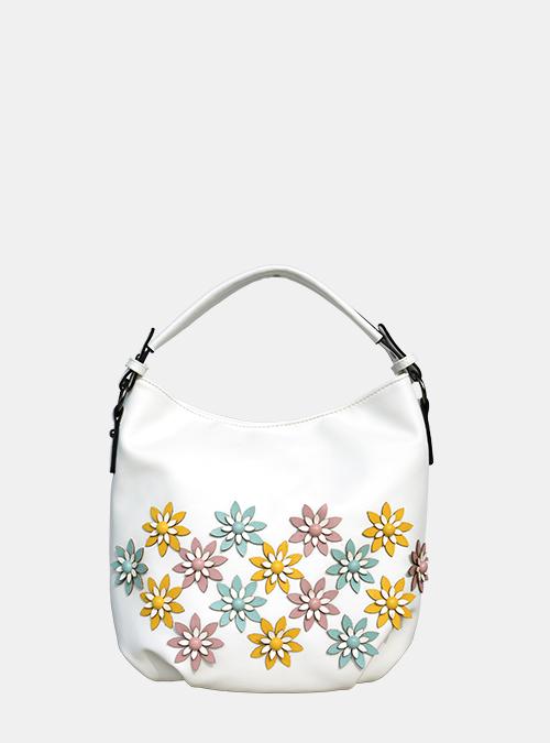 36d1c45d030f8 Bernardo Bossi - Hobo-Bag mit bunten 3D-Blumen