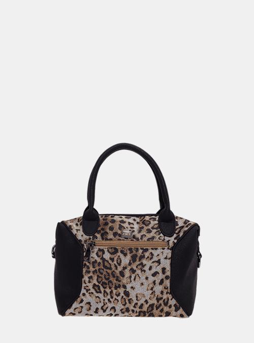 1e241484e53d9 handtasche-tasche-henkeltasche-bernardo bossi-mode-309-01 schwarz-leopard-