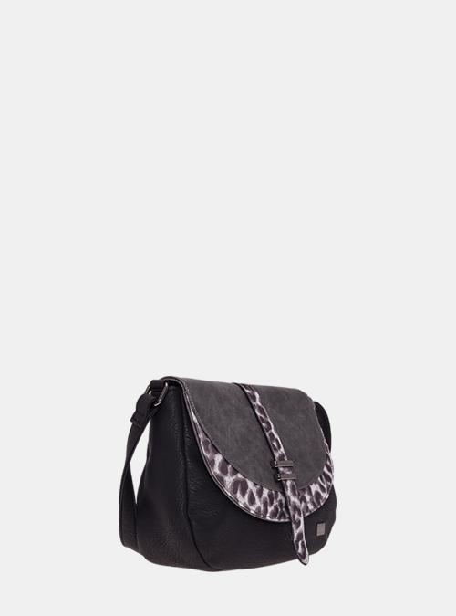 3ca57ba39d4f7 handtasche-tasche-satchel tasche-bernardo bossi-mode-343-01 schwarz-leopard-
