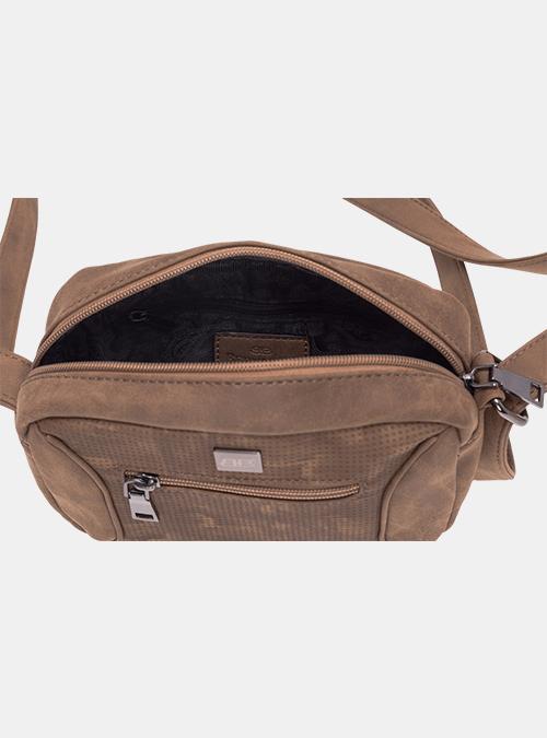 8b5e264ec5afa handtasche-tasche-umhaengetasche-bernardo bossi-mode-306-01 braun-perforiert  (