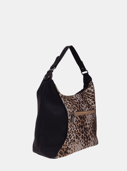 a92cb7b1915cc handtasche-tasche-umhaengetasche-bernardo bossi-mode-308-01 schwarz-leopard-